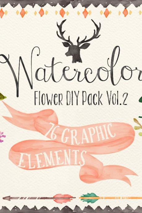 Watercolor clipart, Floral Frame PNG, wedding bouquet, arrangement, bouquet, digital paper, green flowers, bridal shower, for blog banner